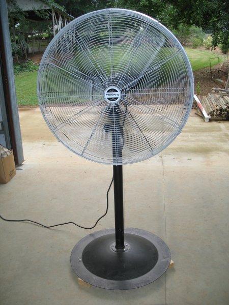 Industrial Pedestal Fans : Casters added to a workshop pedestal fan diy backyard
