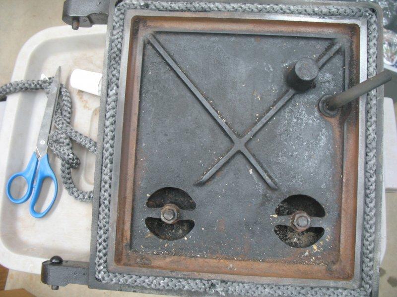 Heater Door Seal Fiberglass Fireplace Sealing Kit